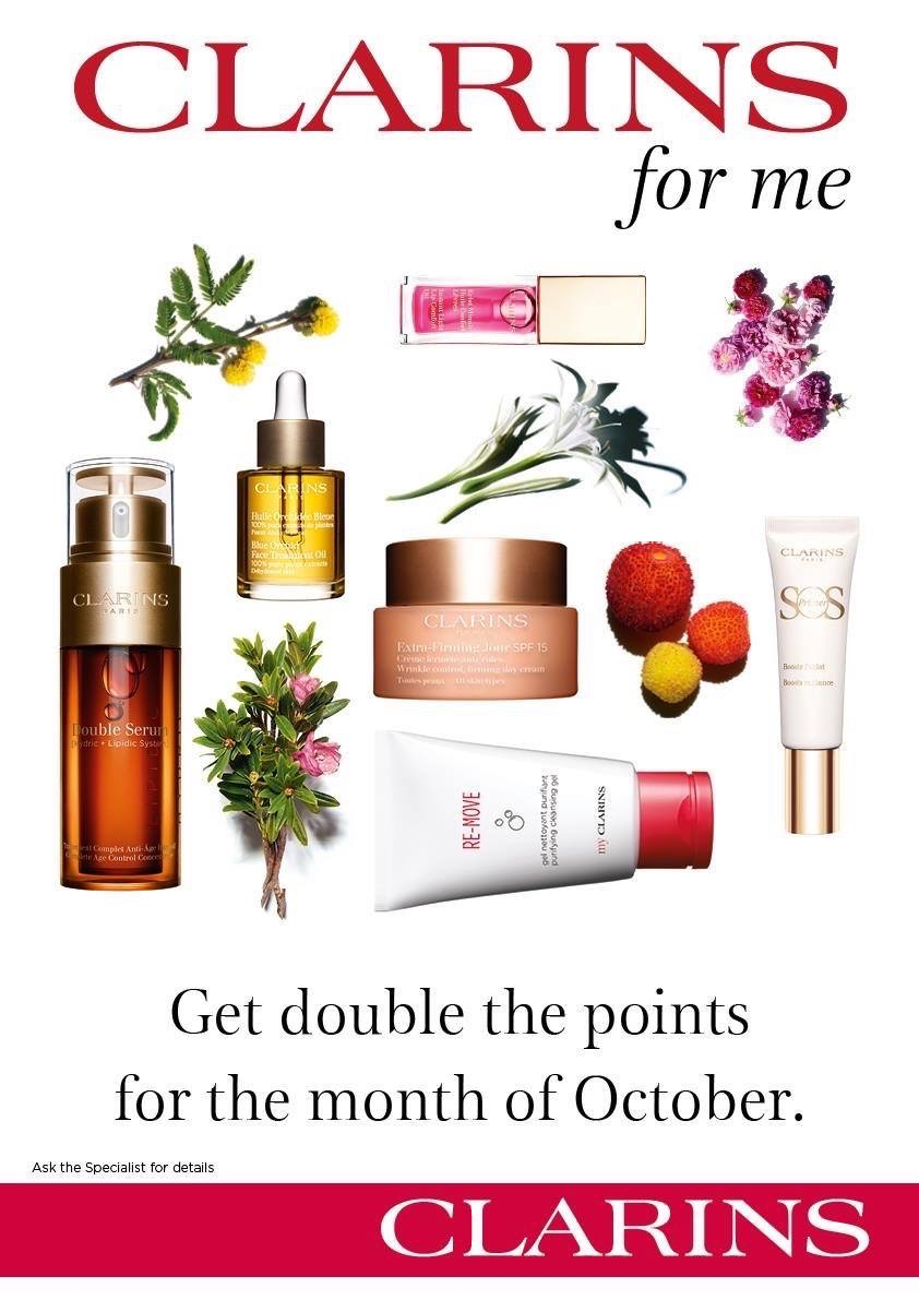 Clarins for me - Double Points October