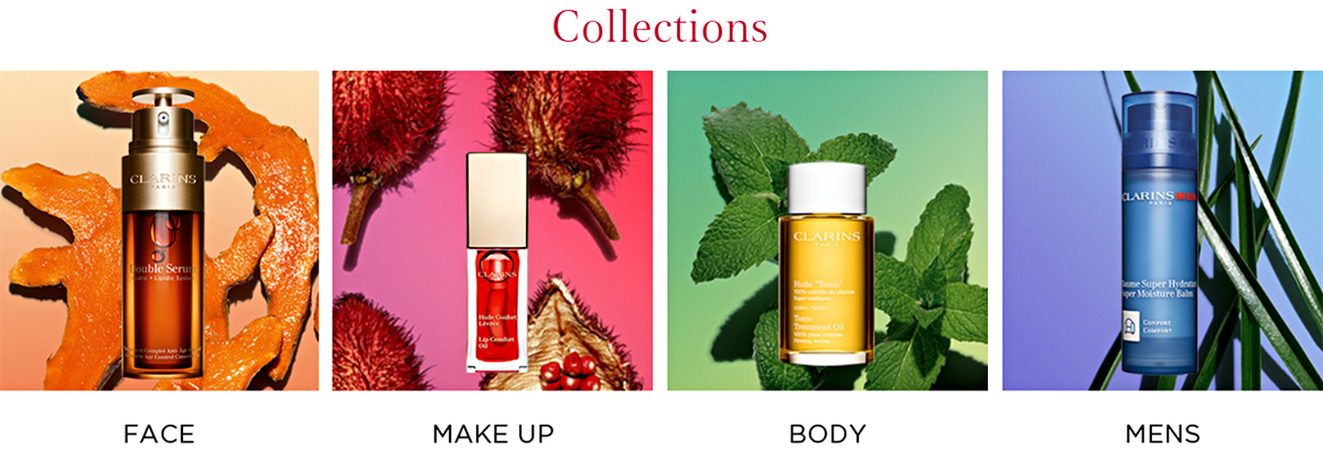 Clarins product catalogue