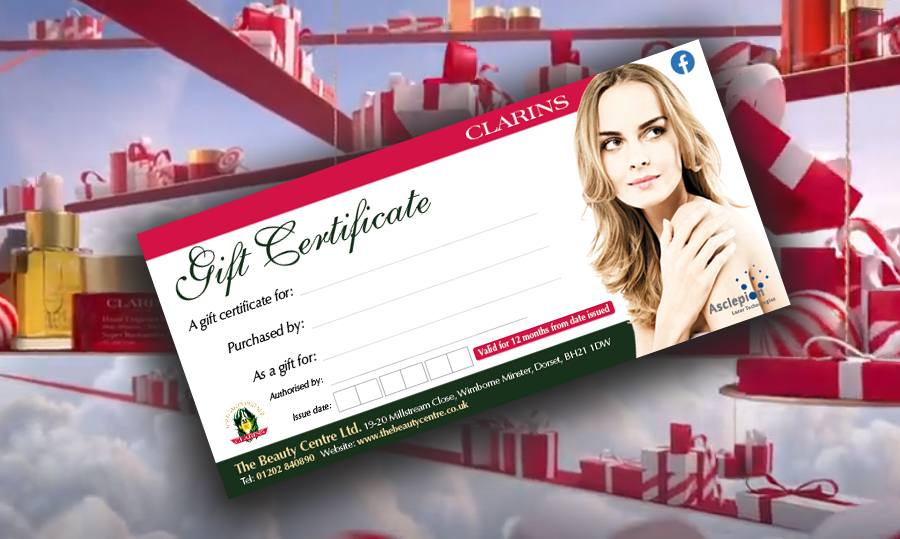 The Beauty Centre Gift Voucher Visual