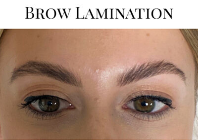 Brow Lamination special introductory price £35, including tint and shape.